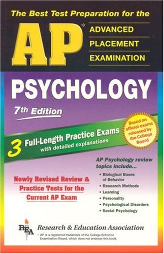 AP Psychology 7th Edition (REA) - The Best Test Prep for the AP Exam (Advanced Placement (AP) Test Preparation)