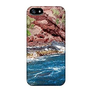 TBIuw5683UxAre Tpu Phone Case With Fashionable Look For Iphone 5/5s - Red S Beach