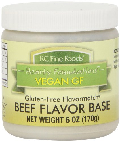 RC Fine Foods Hearty Foundations Vegan Gluten-Free Beef Flavored Base, 6 Ounce