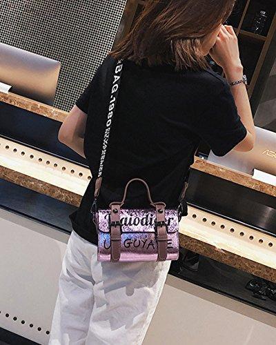 Almohada Color Lentejuelas Bag Del Mujer Casual Para Bolso Bolso De Mano Bolsa Messenger De Hombro Bandolera Bolsa Pink De RY8xT