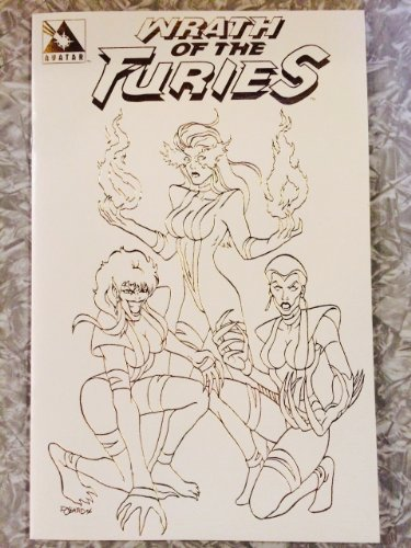 Wrath of the Furies #1-c Limited Edition White Leather - Girls Nerd Nude