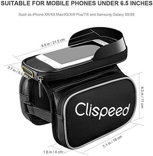 自転車フレームバッグ防水自転車ルーフチューブハンドルバーバッグ携帯電話ブラケットタッチスクリーン自転車フレームバッグ