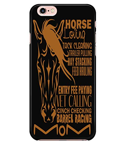 iPhone 6/6s Case, Barrel Racing Mom Case for Apple iPhone 6/6s, Vet Calling iPhone Case (iPhone 6/6s Case - Black)
