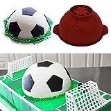 8 Sport Soccer Shape Silicone Mold Fondant Cake Cupcake Mould Baking Pan Trays