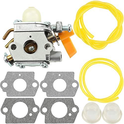 Leopop Carburetor with Gasket Fuel Line Primer Bulb for Ryobi Homelite RY28100 RY28120 RY28121 RY28140 RY28141 RY28160 RY28161 UT33600 UT33650 Parts Kit Carb Engine String Trimmer ()