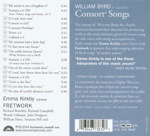 Byrd: Consort Songs by Harmonia Mundi Fr.