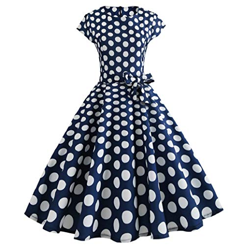 3daca0058523 JHKUNO Women Dresses, Women Vintage Bodycon Short Sleeve Casual Retro  Evening Party Prom Swing Dress