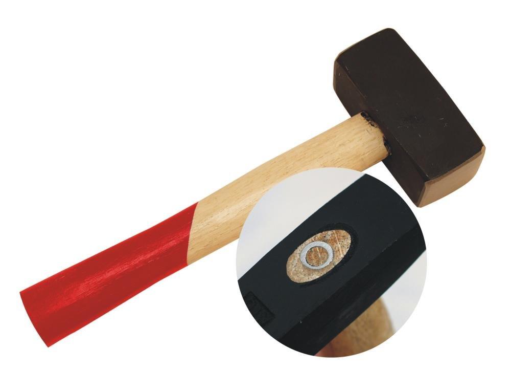 252 mm L/änge Komforgriff Stahlguss Kopf F/äustel 1500g Sicherheits Handf/äustel abgerundet 1500 g Kopfgewicht ca
