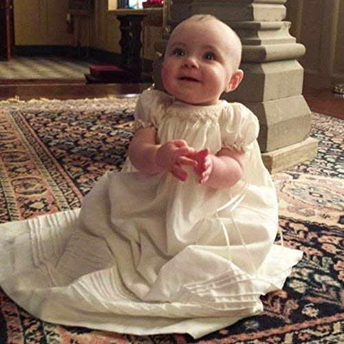 Suma Christening Gown Baby Girl Baptism Dedication Dress for Age 3-12 Months Hand Made