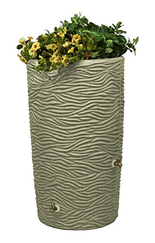 Good Ideas Imp-L65-San Impressions Palm Rain Saver, 65 Gallon, Sandstone