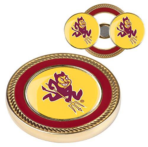 (NCAA Arizona State Sun Devils - Challenge Coin / 2 Ball Markers)