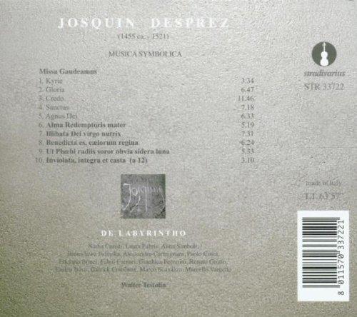 De Labyrintho, Testolin - Josquin Desprez: Musica Symbolica - Amazon.com Music