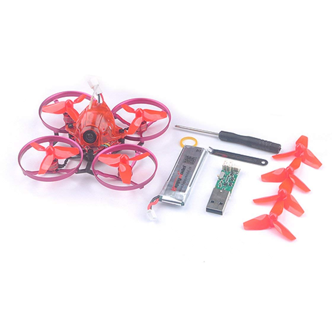 Laurelmartina Happymodel Snapper7 Brushless Whoopi Aircraft BNF Micro 75mm FPV Quadcopter 4in1 Crazybee F3 FC Frsky RX 700TVL Cámara VTX