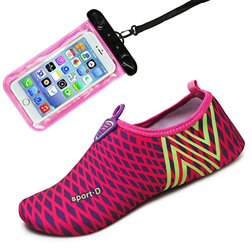 Sports Beach Dry Shoes Mens Water Yoga Surf Rose and Exercise for Swim Socks Auken Quick Womens Stripe Aqua Drifting Shoes Barefoot f5Xv8W