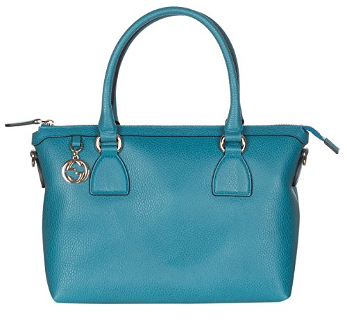 Gucci Teal Calf Leather GG Pendant Hobo Shoulder - Women Gucci Sale