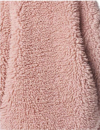 Chaud XXXL Femme Automne Hiver Manches Veste Longues Moelleux Manteau Huaishu Dames Pink nUaxqwa