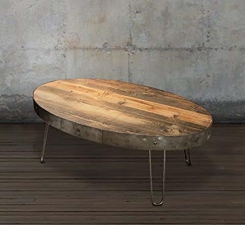 Reclaimed Wood Coffee Table Amazon: Amazon.com: Reclaimed Wood Coffee Table, Oval With Drawer