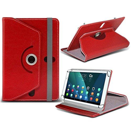 (rot) NVIDIA Shield K1[20,3cm] Fall [Standfunktion] für NVIDIA SHIELD K1[20,3cm] Tablet PC Hülle Cover Tablet stabiler Synthetisches PU-Leder 360° Drehbar Fall mit 4Federn von i- Tronixs