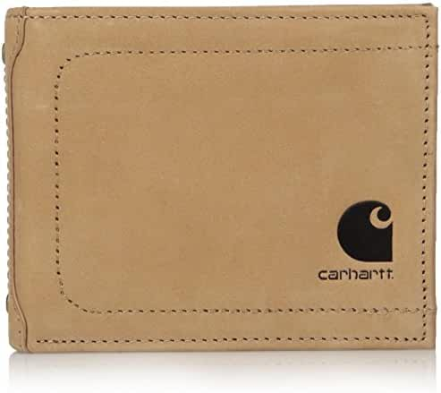 Carhartt Men's Nubuck RFID Blocking Flip Id Billfold