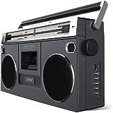 Boombox Portátil Retro Street Rocker Ion ISP112 – Toca Fita Cassete, Rádio AM/FM com Transmissão sem Fio e Entradas USB, SD e