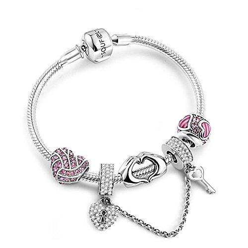 Soufeel 925 Argent Exprimer Votre Amour Charms Bracelet