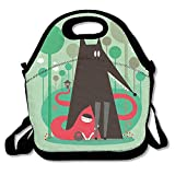 Insulated Neoprene Lunch Bag-Removable Shoulder Strap-Reusable Thermal Thick Lunch Tote/Lunch Box/Cooler Bag