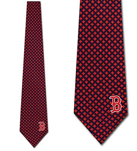 Boston Red Sox Ties Mens Diamante Necktie by Eagles Wings Boston Red Sox Necktie