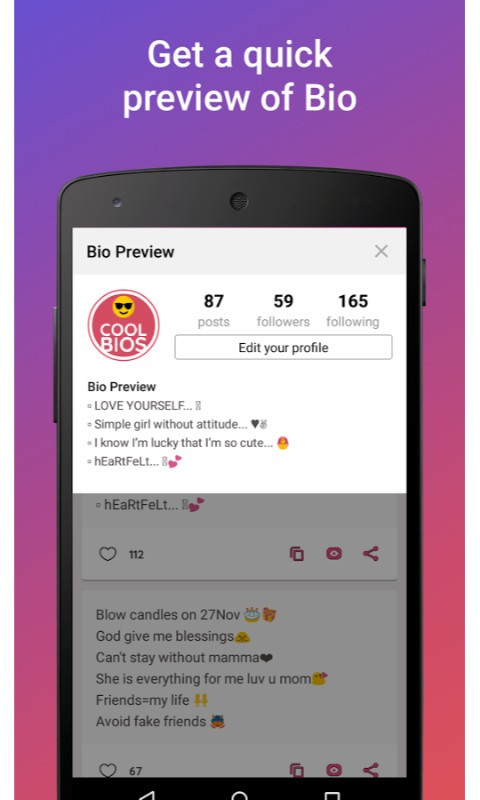 Amazoncom Cool Bio Quotes Ideas Appstore For Android