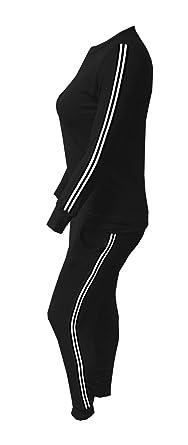 4d6a8d79c0472 Cima Mode Womens Plus Size Knitted Striped Bottoms Long Sleeve Ladies  Lounge 2 Piece Suit Jogging