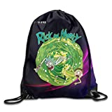 Creative Design Rick And Morty Funny Cartoon Drawstring Backpack Sport Bag For Men And Women
