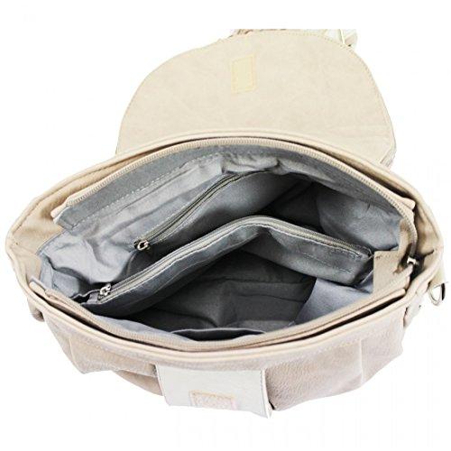 Main Messenger Crossbody Shoulder Evening bag Apricot Two Womens Ladies Compartment Tassel Bag Bag Bag HZq44X