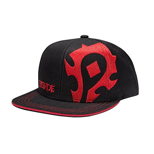 JINX World of Warcraft Horde Pledge Snapback Baseball Hat (Black, One Size) (World Hat Of Warcraft)