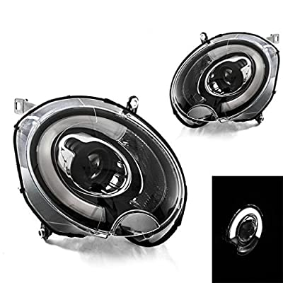 09-15 Mini Cooper R57 Convertible Black Projector Headlights w/ F56 LED DRL