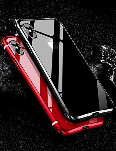 iPhone Xs Max Case KumWum Metal Aluminum Bumper Case PC Back Cover for iPhone Xs Max (iPhone Xs Max, Black)