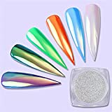 seal neon - BORN PRETTY 0.8g Neon Unicorn Mirror Powder Ultra-thin Nail Art Mermaid Chrome Pigment Powder BJ13