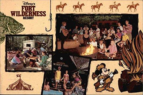 ss Resort Disney Original Vintage Postcard (Disney Fort Wilderness Resort)