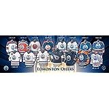 Frameworth Edmonton Oilers Jersey Evolution Plaque, 5x15, Black