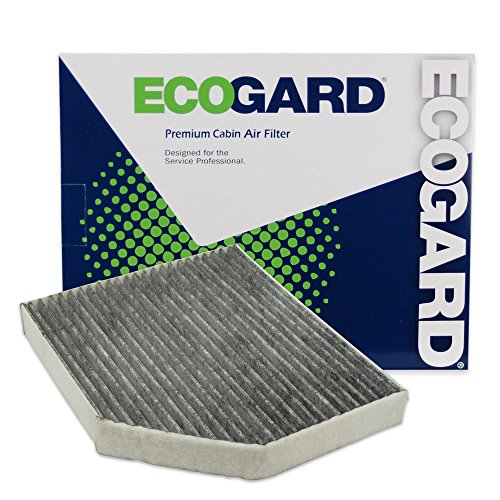 ECOGARD XC36071C Cabin Air Filter with Activated Carbon Odor Eliminator - Premium Replacement Fits Audi Q5, A4 Quattro, A5 Quattro, A4 / Porsche Macan / Audi S5, S4, allroad, SQ5, A5, RS5, A4 allroad