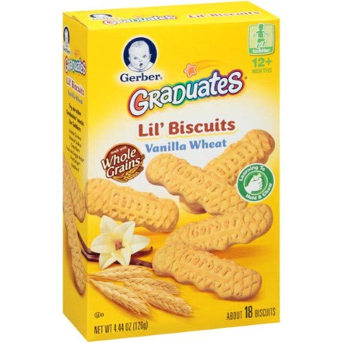 Gerber Lil' Biscuits Vanilla Wheat (Pack of 36)