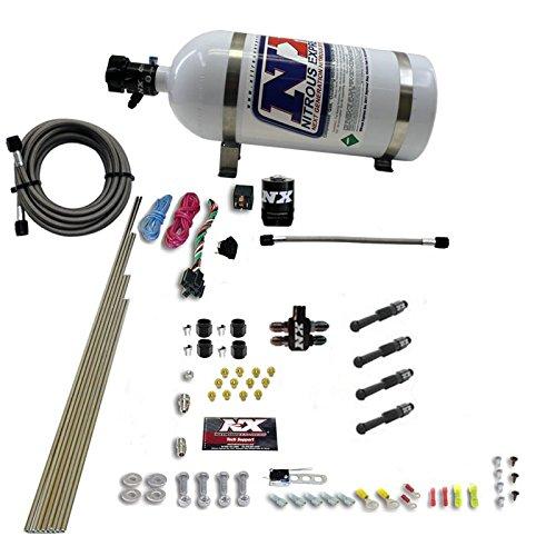 Nitrous Express Dry Direct Port Nitrous System. 4 Cylinder W/ 10Lb Bottle 93046-10 Direct Port Nitrous System
