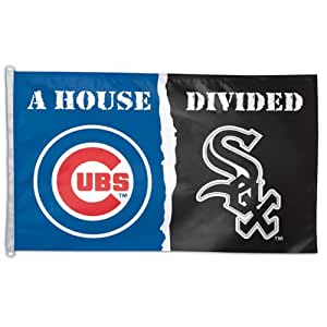 Chicago Cubs Chicago White Sox House Divided Baseball Polyester Flag 3 x 5 Feet