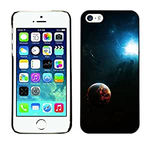PC/Aluminum Funda Carcasa protectora para Apple Iphone 5 / 5S Space Fire Planet Galaxy / JUSTGO PHONE PROTECTOR