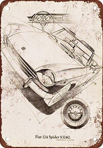 Metalsigns 1969/Fiat 124/Spider Look vintage Reproduction plaque en m/étal 30,5/x 45,7/cm