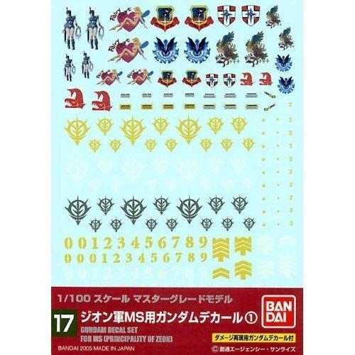 1/100 Gundam Decal ZEON MS - Gundam Decals