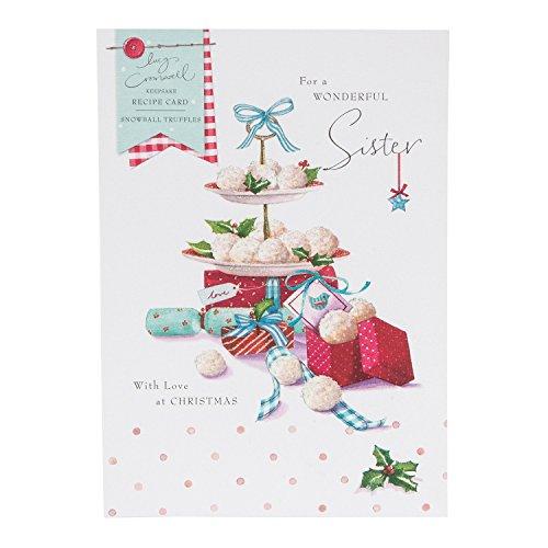 Hallmark Christmas Card To Sister 'Snowball Truffle Recipe' - Medium