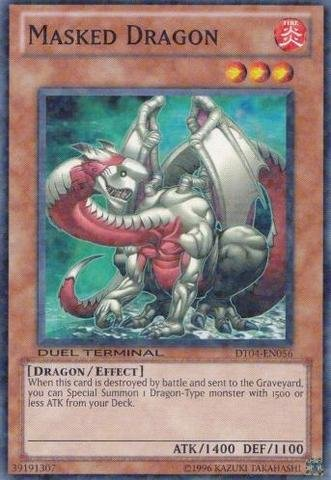 Masked Dragon - Yu-Gi-Oh! - Masked Dragon (DT04-EN056) - Duel Terminal 4 - 1st Edition - Common