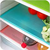 "IETONE 6 Pack Refrigerator Mats, EVA Refrigerator Liners Washable Can Be Cut Refrigerator Pads Fridge Mats Drawer Table Placemats/Size 17.7"" x 11.8"""