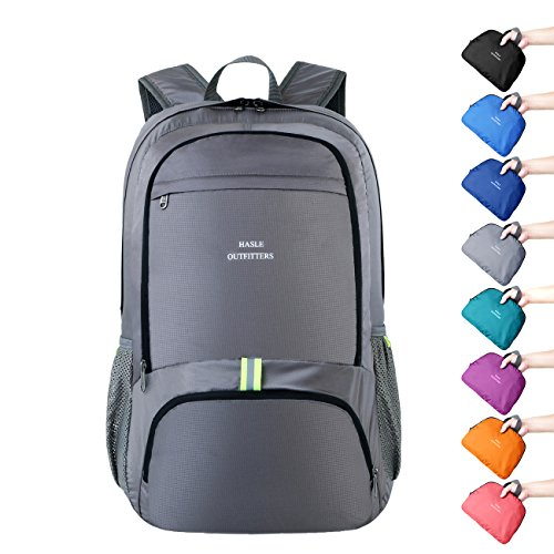 HASLE OUTFITTERS 40L Hiking Backpack -Waterproof Hiking Daypacks, Lightweight Packable Travel Backpacks. Grey