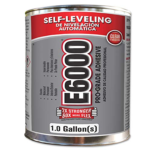 E6000 244021 Low Viscosity Adhesive, Clear, One Gallon ()