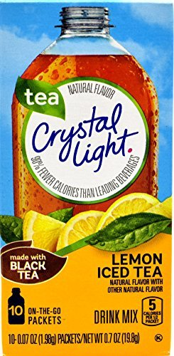 Crystal Light Lemon Iced Tea, 10 On-the-Go Packets (Pack of 4) by Crystal Light